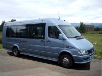 12-seater minibus for hire from Sweeneys of Muthill, Perthshire, Scotland, UK