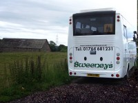 White 26-Seater Minibus for Hire from Sweeneys of Muthill, Perthshire, Scotland