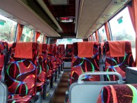 White 35-Seater Coach for hire from Sweeneys of Muthill, Perthshire - bus available for holiday excursions, airport transfers and golfing tours throughout Scotland, UK