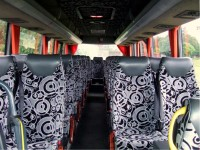 33-seater minibus for hire from Sweeneys of Muthill, Perthshire, Scotland, UK - ideal for holiday touring parties, golf tours and airport transfers